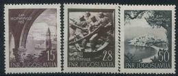 1952 Jugoslavia, Decennale Marina Da Guerra, Serie Completa Nuova (*) - 1945-1992 Repubblica Socialista Federale Di Jugoslavia