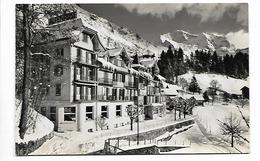 B/W VIEW OF HOTEL ALPENROSE, WENGEN, BERN, SWITZERLAND. - BE Berne