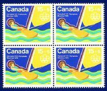 Canada 1975 Water Sports - Sailing B6 Block 4 Stamps MNH ! - 1952-.... Règne D'Elizabeth II