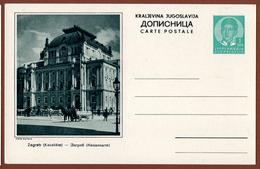 YUGOSLAVIA-CROATIA, ZAGREB, 5th EDITION ILLUSTRATED POSTAL CARD - Interi Postali