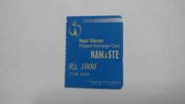 Nepal-NAMASTE-(prepiad Recharge Card)-(rs.1000)-(3)-(8016264950774)-(31.12.2012)-used Card - Nepal