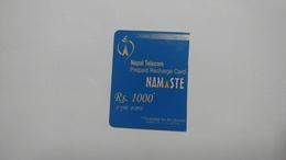 Nepal-NAMASTE-(prepiad Recharge Card)-(rs.1000)-(4)-(6118169072856)-(31.12.2012)-used Card - Nepal