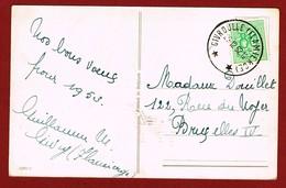 Relais Sterstempel Givrouille (Flamierge)  Op Wenskaart 1952 - Sternenstempel