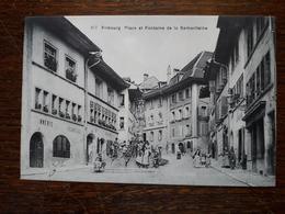 L17/184 Suisse. Fribourg. Place Et Fontaine De La Samaritaine - FR Fribourg