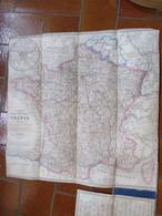 CHARLE Géographe 1845: Carte Routière De La France Indiquant Les Routes De Poste, Royales, Chemins De Fer .... - Histoire