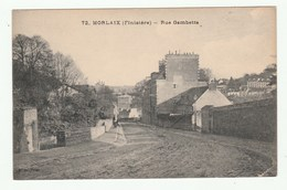 MORLAIX - Rue Gambetta - Vue Peu Courante ! - CPA 1920s - Éditon J.D. Brest - No 72 - Morlaix