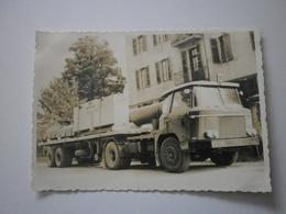 Photo 143 X 101 Mm. Camion WILLEME. Sur Chargement, Panneau NEYRPIC, Grenoble (GF651) - Grenoble