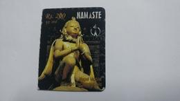 Nepal-NAMASTE-(prepiad Recharge Card)-(rs.200)-(5)-(2410847295515)-(31.12.2010)-used Card - Nepal