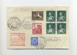 1939 3. Reich Zeppelin LZ 130 Deutschlandfahrten Fahrt Nach Essen Brief Tolle Frankatur Si 464 - Allemagne