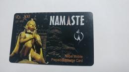 Nepal-NAMASTE-(prepiad Recharge Card)-(rs.200)-(6)-(2712197778411)-(31.12.2009)-used Card - Nepal