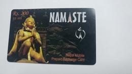 Nepal-NAMASTE-(prepiad Recharge Card)-(rs.200)-(7)-(1519320528608)-(31.12.2010)-used Card - Nepal