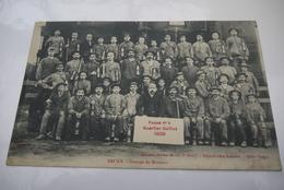 BRUAY  QUARTIER   GUILLUY    1908   FOSSE  NUMERO  4  GROUPE  DE  MINEURS - France
