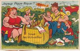 34/ Beziers - Carte A Systeme - Joyeux Pique Nique ................. - Beziers