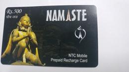 Nepal-NAMASTE-(prepiad Recharge Card)-(rs.500)-(7)-(6100897446015)-(31.12.2006)-used Card - Nepal