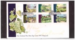 NZFDC208  -  WANGANUI  19.3.1997    /    FDC   Y.&T. Nr.  1518/1523    ( A.C.S. CAT. Nr.  1378/1383  ) - Agricoltura
