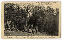 Bois De Forges, Förderbahn - Oorlog 1914-18