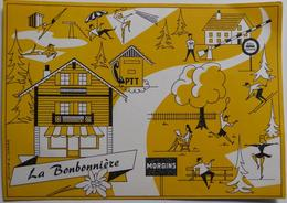 """Morgins """"La Bonbonnière"""" - CPSM Publicitaire William Schenk - VS Valais"""