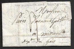 1811 - LAC - 64 OLERON - 28 Oct ALMENARA (ESPAGNE) Lettre D'un Soldat - Armee Française D'Aragon - Bat. Sagonte - Postmark Collection (Covers)