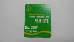 Nepal-NAMASTE-(prepiad Recharge Card)-(rs.200)-(9)-(46070164065239)-(31.1.2012)-used Card - Nepal