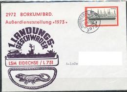 Schiffpost  BRD   1. Landungsgeschwader LSM Eidechse - L 751 - Militaria