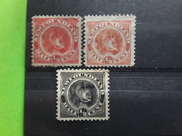 NEWFOUNDLAND / TERRE NEUVE 1887 - 1890,Chien Labrador Dog 3 Timbres Yvert  39,39 A,44, Neufs (*)TB Cote 100 E - 1865-1902