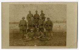 Soldaten, Stahlhelm, Gewehre, Echtfoto - Oorlog 1914-18