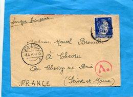 """MARCOPHILIE Guerre 39-45-lettre Pour Françe--  Français Engagé Dans La Werhmacht"""" Cad Osnabrück 1941-censurée - Poststempel (Briefe)"""