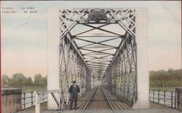 Temse Tamise Temsche 1910 De Brug Le Pont Geanimeerd Ingekleurd Colorisee (In Zeer Goede Staat) - Temse