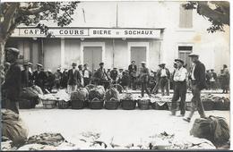 """Pub """" Bière De SOCHAUX"""" Sur Cpa Photo Non Localisée - Sochaux"""