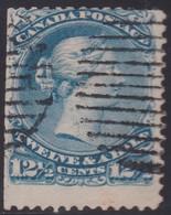 Canada  .   Scott  .    28i . Milky Blue  .   12x12   .     O    .    Cancelled     .   /    .   Gebruikt - 1851-1902 Reign Of Victoria
