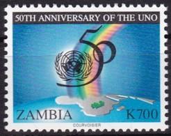 Zambia, 1995, 651, 50 Jahre Vereinten Nationen (UNO). MNH ** - Zambia (1965-...)