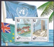 Tuvalu, 1995, 731/32 Block 54, 50 Jahre Vereinte Nationen (UNO).  MNH ** - Tuvalu