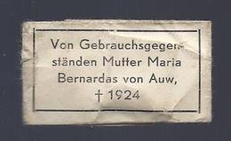 RELIC RELIQUIA RELIQUARY VON GEBRAUCHSGEGENSTÄNDEN MUTTER MARIA BERNARDAS VON AUW + 1924 - Images Religieuses