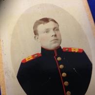 KASSEL - D.W. ACHENFELD - OFFIZIER - KOLORIERT ! GOLDENE UNIFORMKNOEPFE - War, Military