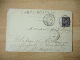 Cachet Perle Latrecy Facteur Boitier Obliteration Sur Lettre - Marcophilie (Lettres)