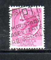 XP2630 - REPUBBLICA 1955 SIRACUSANA , 5 Lire N.763 Fil 65° Dx Usato - Varietà E Curiosità
