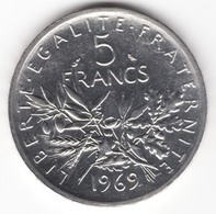 5 Francs 1969 En Argent - France