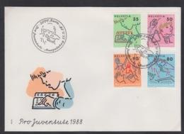 SUISSE FDC ZUMSTEIN 307/10 PRO JUVENTUTE - FDC