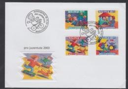 SUISSE FDC ZUMSTEIN 369/72 PRO JUVENTUTE - FDC