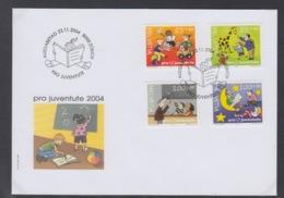 SUISSE FDC ZUMSTEIN PRO JUVENTUTE 2004 - FDC