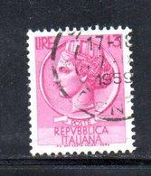 XP2858 - REPUBBLICA 1955 SIRACUSANA , 5 Lire N.763 Fil 65° Dx Usato - Varietà E Curiosità