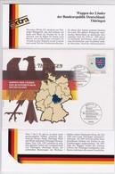 Wappen Der Länder Der Bundesrepublik Deutscland: Thüringen 8.9.1994. Mi: 1761 - [7] République Fédérale