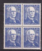 N° 599 Centenaire De La Naissance De Physicien Edouard Branly: Bloc De 4 Timbres Neuf Impeccable - Frankreich