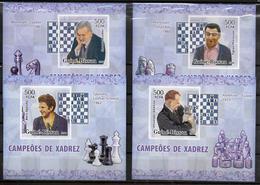 GUINEE  BISSAU  BF De Luxe  N° 2218/21  * *  NON DENTELE  Echecs Grands Champions - Echecs