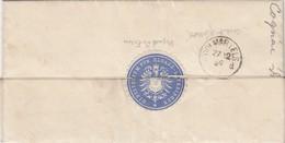 LETTRE. 27 12 1882. MINISTERIUM FÜR ELSASS  - LOTHRINGEN STRASSBURG POUR COLMAR. ETIQUETTE BLEUE AU VERSO - Alsace-Lorraine