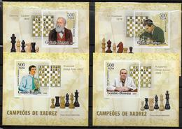 GUINEE  BISSAU  BF De Luxe  N° 2222/25  * *  NON DENTELE  Echecs Grands Champions - Echecs