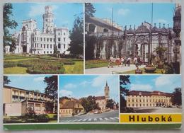 Hluboka Nad Vltavou - Multiview - Zamek, AJG, Parkhotel, Stred Mesta, Zamek Ohrada    Vg - Repubblica Ceca