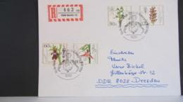 """Berlin: R-FDC-Brief """"Wohlfahrt Orchideen 1984"""" Kompl. Mit Berliner So-Stpl. Vom 18.10.84 -30 Pf überfrankiert Knr: 724/7 - Berlin (West)"""