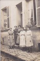 """77 COULOMMIERS RARE Carte-photo Rue Desnoyers (derrière Vieille église) Voir Livre D. KRAMER """"Mémoire En Images"""" P.118 - Coulommiers"""