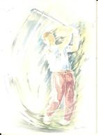 Golf - Aquarelle De P. Voisin -cpm - Golf